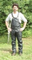 Men's Leather Bib Overalls